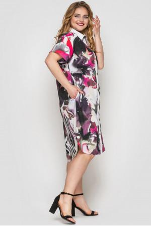 Сукня-сорочка «Саті» з принтом-акварель