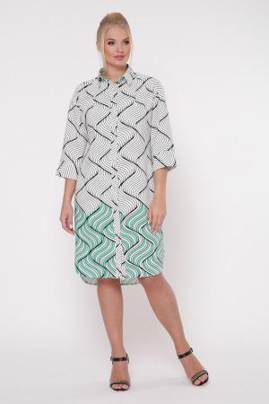 Сукня-сорочка «Саті» з принтом зелений фьюжн
