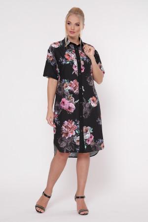 Платье-рубашка «Сати» принт джорджия