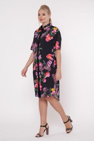 Сукня-сорочка «Саті» принт шипшина
