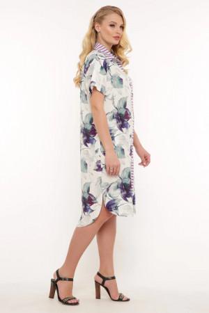 Платье-рубашка «Сати» ментолового цвета
