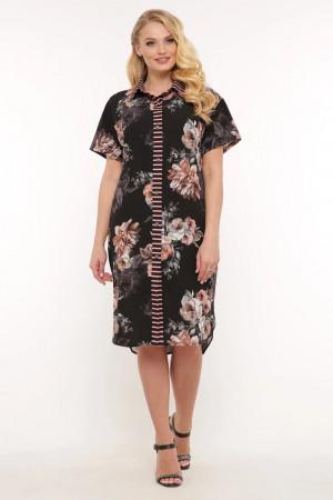 Сукня-сорочка «Саті» з півоніями