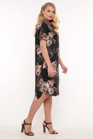 Платье-рубашка «Сати» с пионами
