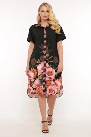 Сукня-сорочка «Саті» з квітами