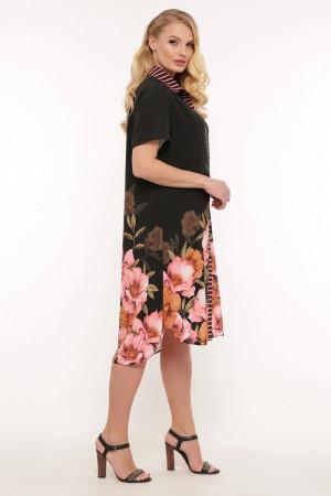 Платье-рубашка «Сати» с цветами