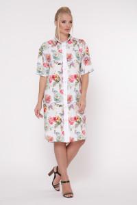 Платье-рубашка «Сати» белого цвета