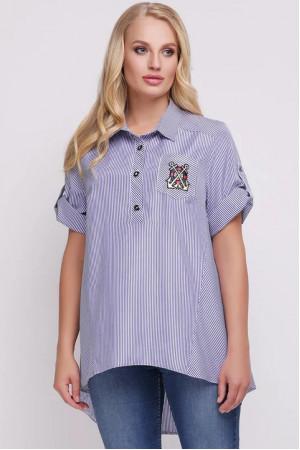 Рубашка «Ангелина» в голубую полоску