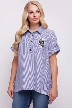 Сорочка «Ангеліна» в блакитну смужку