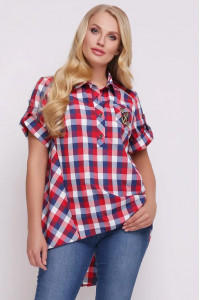 Рубашка «Ангелина» в красную клетку