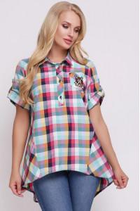 Рубашка «Ангелина» в разноцветную клетку