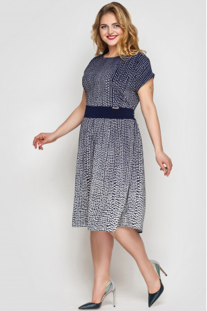 Сукня «Лорен» синього кольору з принтом-горох