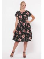 Сукня «Лорен» чорного кольору з маками