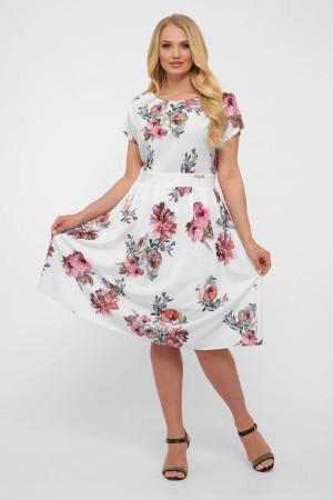 Сукня «Лорен» білого кольору з квітами