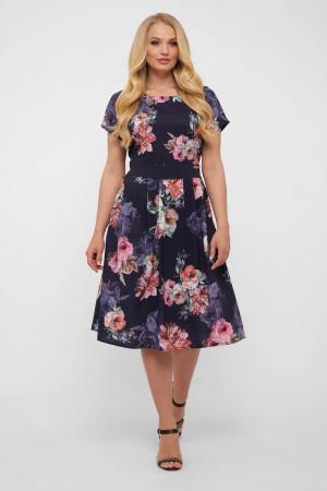 Сукня «Лорен» синього кольору з квітами