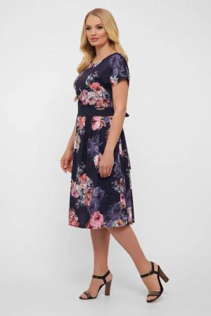 Платье «Лорен» синего цвета с цветами