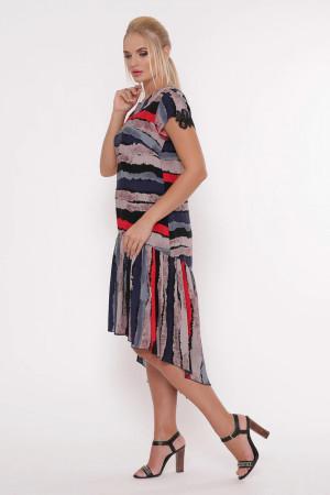 Платье «Герда» в разноцветную полоску