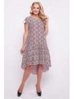 Сукня «Герда» бордового кольору з квітковим принтом