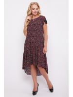 """Сукня """"Герда"""" бордового кольору зі східним принтом"""
