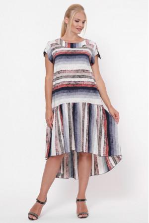 Платье «Яна» в разноцветную полоску