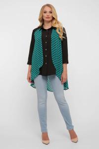 Блуза «Любава» чорного кольору