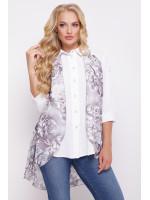 "Блуза ""Любава"" лилового цвета"