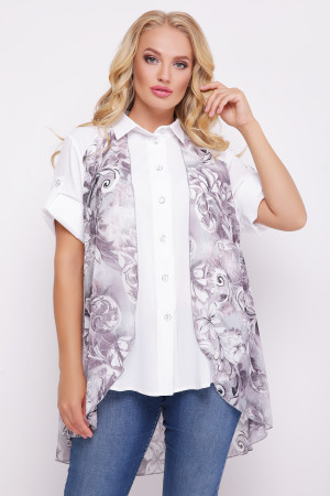 """Блуза """"Любава"""" лілового кольору"""