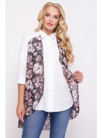 Блуза «Любава» з півоніями
