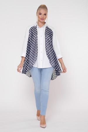 Блуза «Любава» с принтом горох