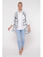 Блуза «Любава» з абстрактним принтом