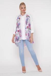 Блуза «Любава» с цветочным принтом