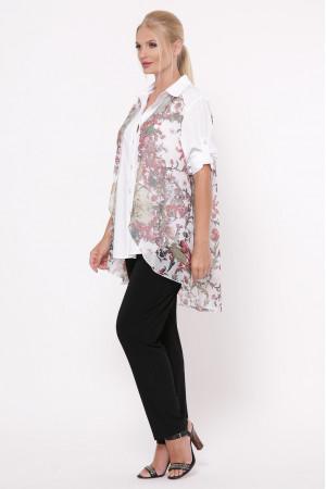 Блуза «Любава» принт флора