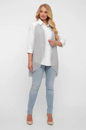 Блуза «Любава» у білу клітинку