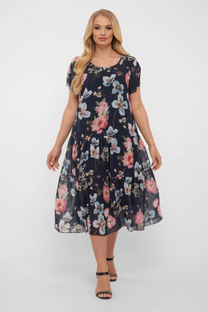 Сукня «Катаїсс» синього кольору з квітами