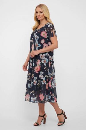 Платье «Катаисс» синего цвета с цветами