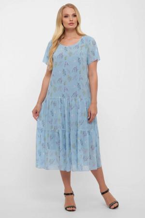 Платье «Катаисс» небесного цвета