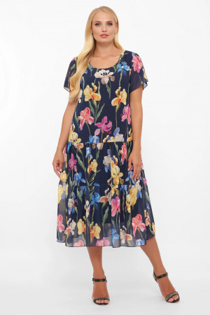 Сукня «Катаїсс» синього кольору з півниками