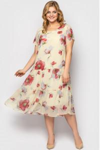 Платье «Катаисс» ванильного цвета