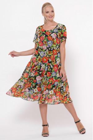 Платье «Катаисс» с принтом-цветы