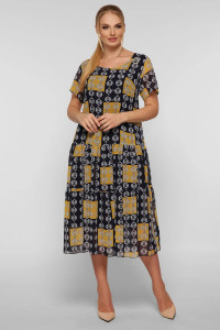 Платье «Катаисс» горчичного цвета