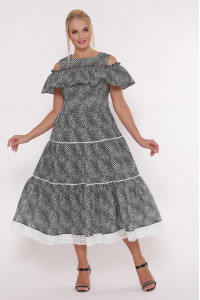 Сукня «Таяна» з принтом-горошинками