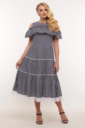 Платье «Таяна» с принтом-цветами