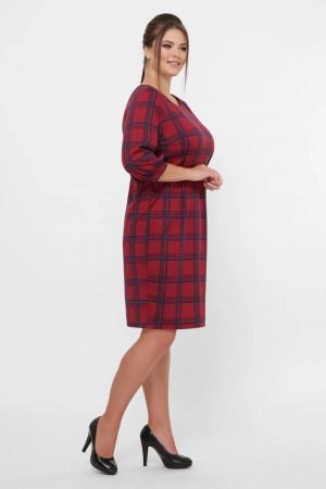 Сукня «Кейт» кольору бордо в клітинку