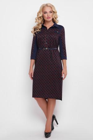 Платье «Мадлен» синего цвета