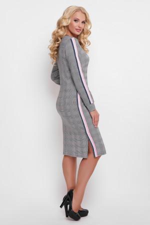 Платье «Виталина» в розовую клетку