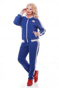 Спортивный костюм «Бомбер» цвета электрик