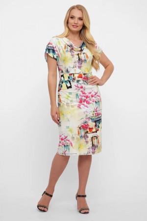 Сукня «Данія» з принтом-акварель