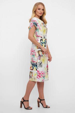 Платье «Дания» с принтом-акварель