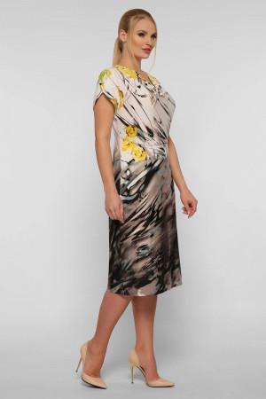 Сукня «Данія» бежевого кольору з принтом
