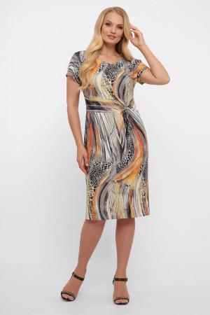 Платье «Белла» с принтом-рептилия