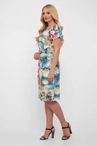 Платье «Белла» с абстрактным принтом